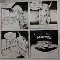 Inktober Day 18 - In memories of the dropped ones by Arazand