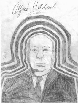 Alfred Hitchcock by aliendrone47