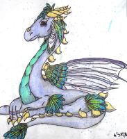 pastel watercolor dragon by SapphyreEdge72395