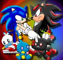 Sonic and Shadow Chao by Mephilez