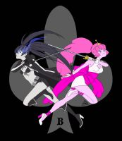 B is for Black Rock Shooter and Princess Bubblegum by AnimaProject
