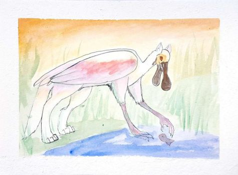 Roseate Spoonbill Griffin (AT) by Jopale-Opal