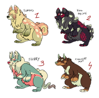 Krongi Adoptable batch 1 CLOSED by blinding-eclips