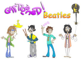 Cartooned Beatles by MustaphaIX