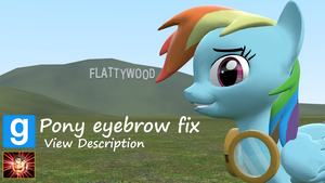 Gmod ponies [DL]: Pony Eyebrow Fix! by Benno950