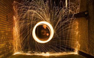Steel Wool Spinning #1 by GregFisher