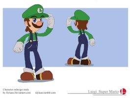 Smash1 Luigi by Dylean