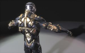 Nano suit rendered in Nucleus by codeinsane