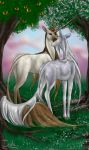 Tarot Unicornis VI - The Lovers by The13thBlackCat