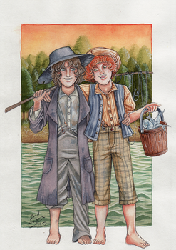 Tom and Huck by Lord-Aragoon