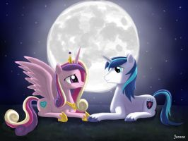 Just Married in the Moonlight by Jrenon