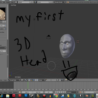 MY FIRST 3D FACE by Saira-Dragon