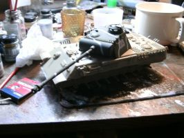 Tamiya 1/35 Panther A wip 4 by DelosQAndrews