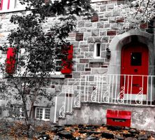 The House with Red by Kitteh-Pawz