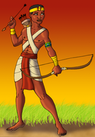 Egyptian Archer with Otjize by DaBrandonSphere