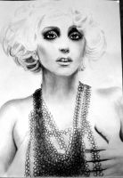 Lady Gaga Drawing by Irishaaa