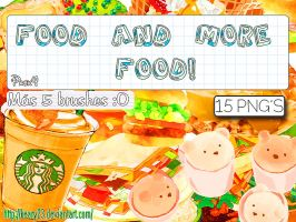 Pack 4 - Food and more food - 15Png's + 5 brushes. by Keary23