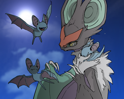 Noivern and Zubat by Reshiram6