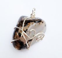 Wire-Wrapped Montana Agate Pendant by FaerieForgeDesign