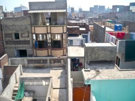 View from the rooftop of our house in pakistan by mayaa199313