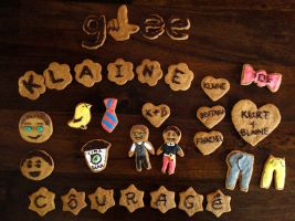Glee/Klaine Appreciation Cookies by Marlenozz