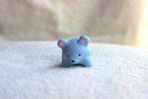 Spirit Friend Blue Bear Figure by PinkChocolate14