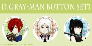 D.Gray-man button set 1 by fuzen-hasu
