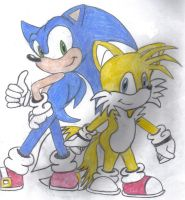 Sonic and Tails by vasqueza93