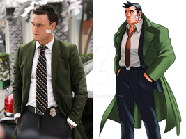 Dick Gumshoe in real life by SpiderZed