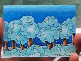 Aceo art card, clouds by EerinVink