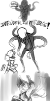 Negathneed Vs. Slenderman by KuroBlanc
