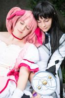 Madoka and Homura- You were my Best Friend! by SkylitEyed