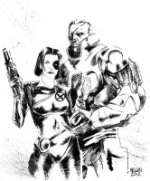 Cable and Domino by kevinmellon