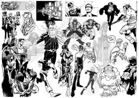 X-Men sketches by Newtasty