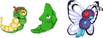 Caterpie Line by Striped-Tie