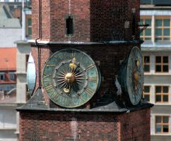 Clock tower in Poland by barefootliam-stock
