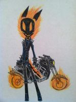 Damian, the Ghost Rider! by DevilWolf9
