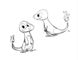 Charmander Sketches by sketchinthoughts