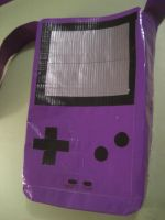 Game Boy Duct Tape Bag by oinkboinky