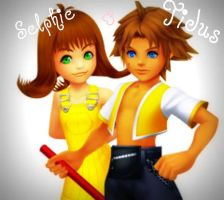 Selphie and Tidus by spysox11