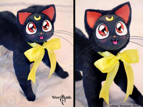 Luna Cat Doll (Sailor Moon) by Flicker-Dolls