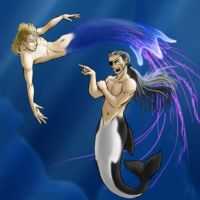 Demyx and Xigbar do Atlantica by alyssafew