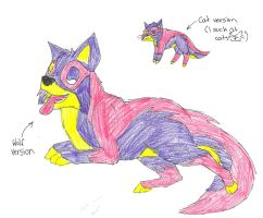 Wolf-cat for zolac22 by TheFrymon