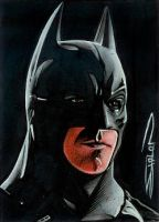 The Dark Knight  Sketch Card by RandySiplon
