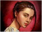 Young beauty...oil on linen canvas by xxaihxx