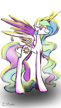 Princess Celestia by EonaDawn466