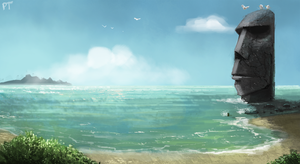DAY 427. Easter Island by Cryptid-Creations