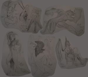 Cryptid Sketches