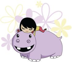 Hippo and Girl by HeatherIhn