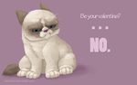 Grumpy Cat Denies Your Love by Asheltots